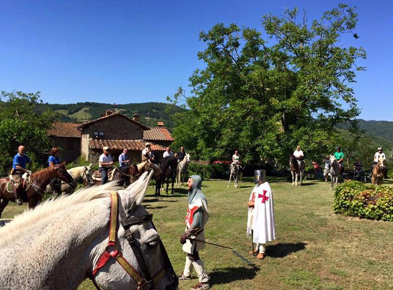 A cavallo nel medioevo